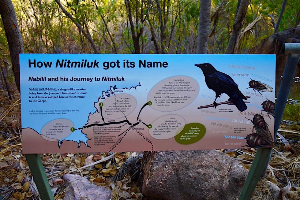 Katherine Gorge Wanderung - Aborigninal Legenden: Nabilil & Dreamtime Story - Nitmiluk National Park - Northern Territory