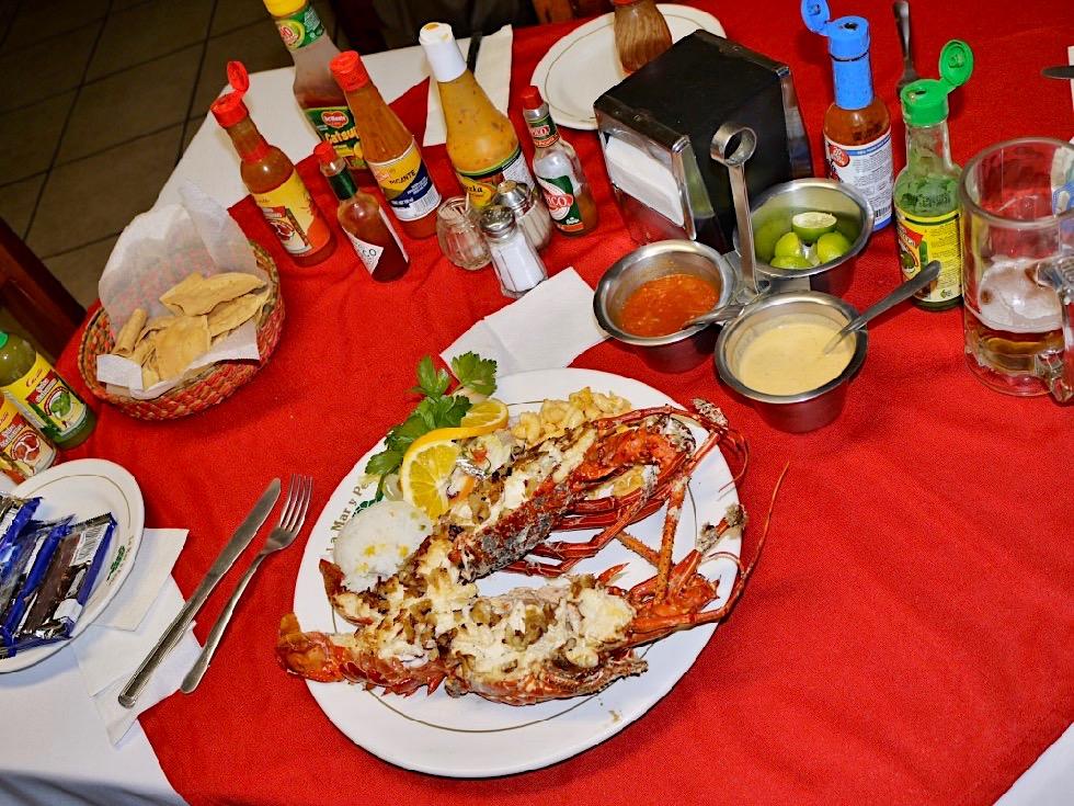 La Paz Baja California - Frischer gefangener Hummer zum Abendessen: besser geht nicht - Mexiko