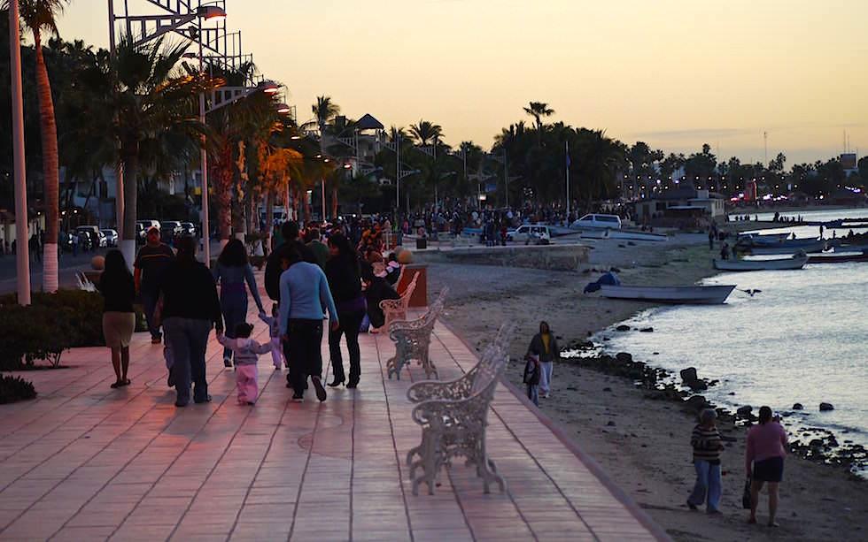 Malecon von La Paz Baja California - Uferpromenade