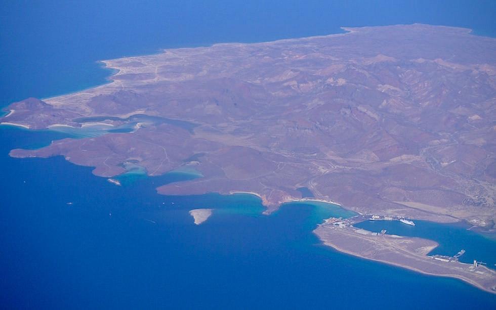 Blick auf die Strände im Norden von La Paz Baja California