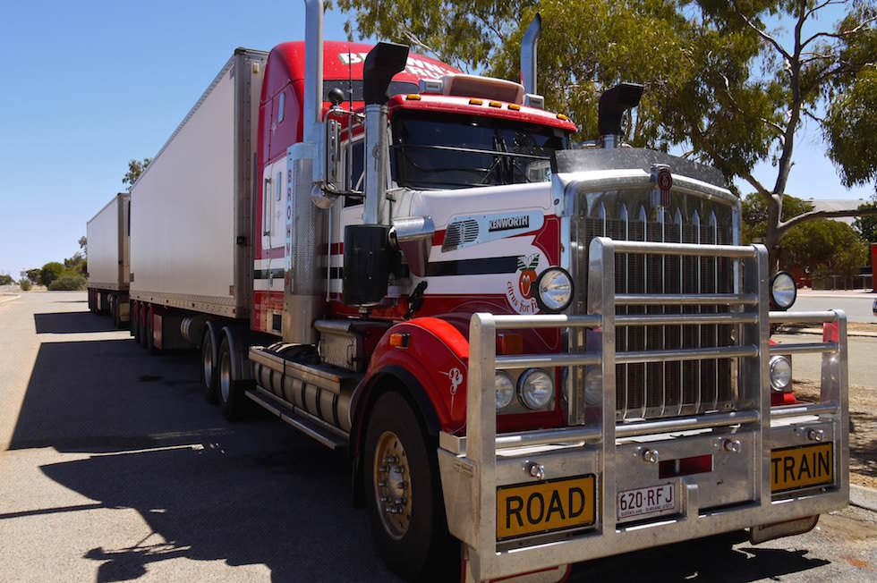 Roadtrain in Western Australia
