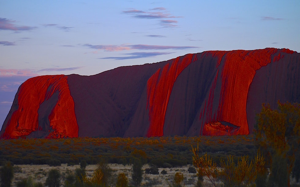 Sunrise Uluru - Ayres Rock - Northern Territory Australia