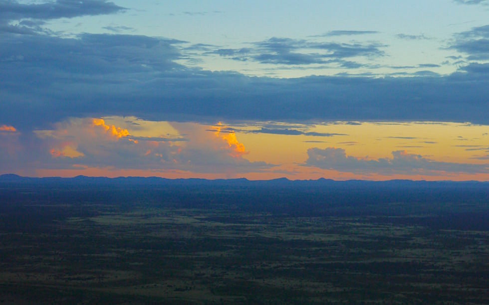 Sunset Uluru Kata Tjuta Nationa Park Helicopter Flight