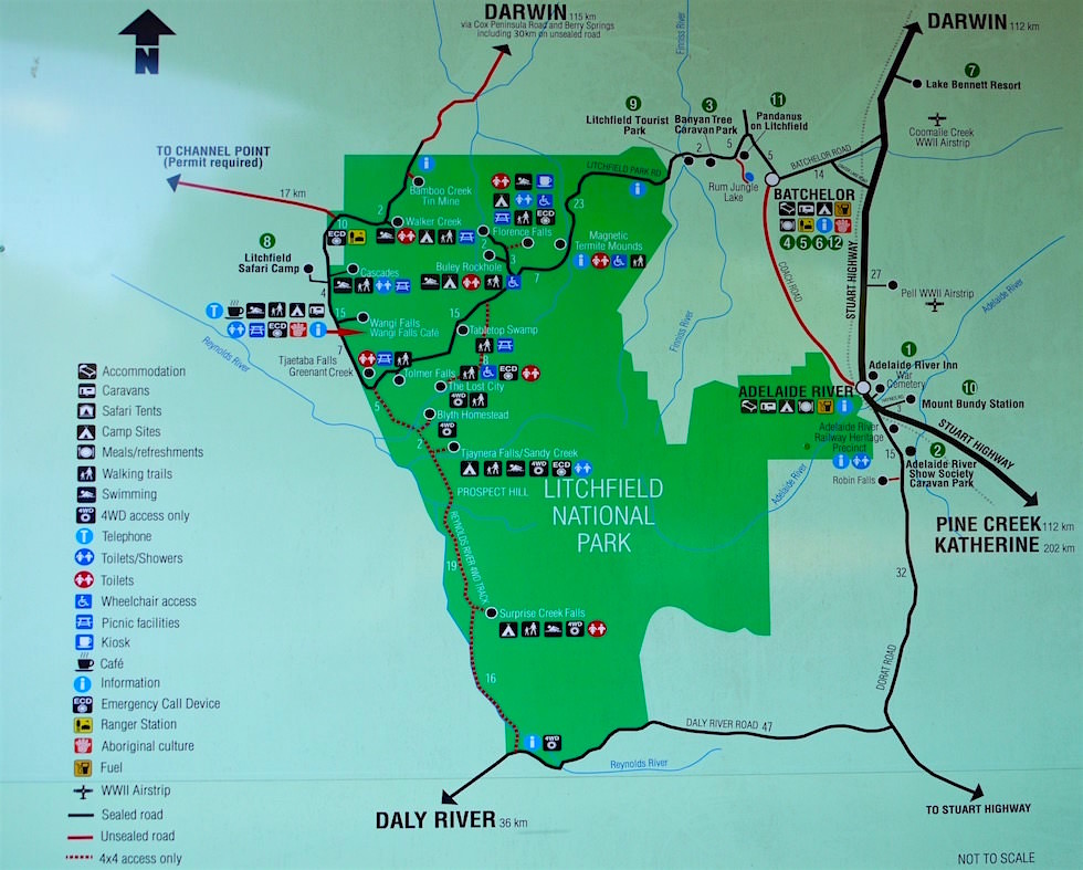 Litchfield National Park Karte - Northern Territory