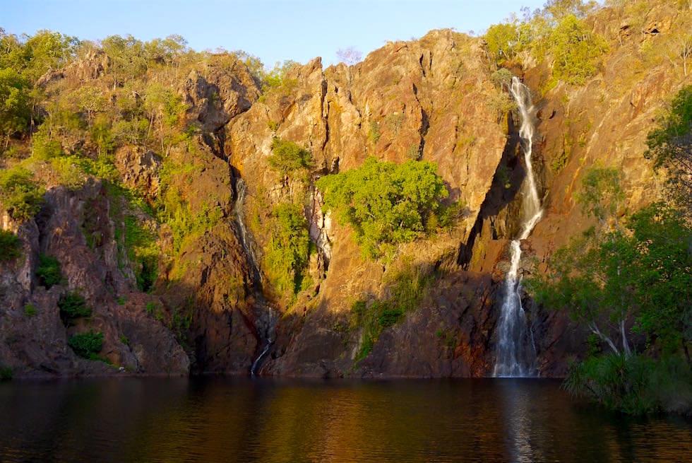 Litchfield National Park: Wangi Falls - Sonnenuntergang während Trockenzeit - Northern Territory