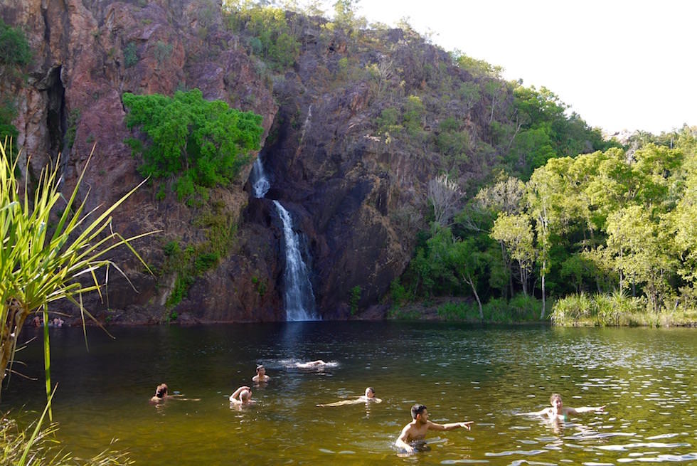 Litchfield National Park: Badefreuden pur im Pool bei den Wangi Falls - Northern Territory