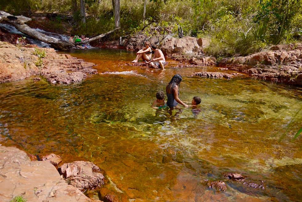 Die beliebten Burley Rockhole Pools - Litchfield National Park - Northern Territory