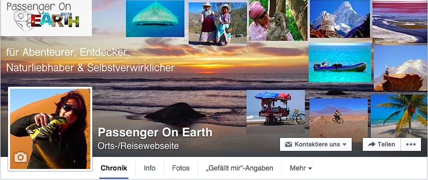 Passenger On Earth Facebook Seite
