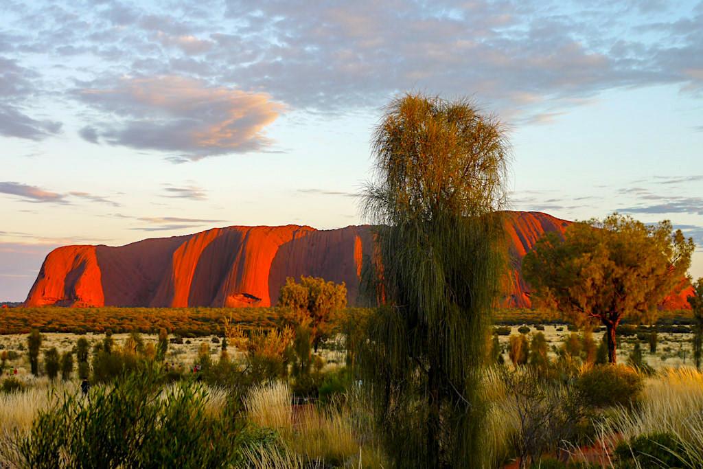 Uluru / Ayers Rock - Heiliger Berg & spiritueller Ort für Zeremonien der Aboriginals - Northern Territory