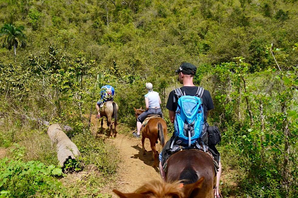 Gemütlicher Ausritt zu Tabakbauern und Höhlen im wunderschönen Vinales Tal - Kuba