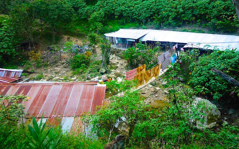 Ankunft in Camp 1 - Ciudad Perdida Trekking - Kolumbien