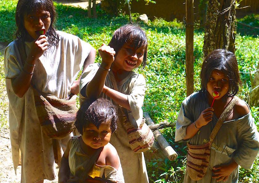 Ciudad Perdiada - Kogi Indianer leben in dem Gebiet der Sierra Nevada de Santa Marta - Kolumbien