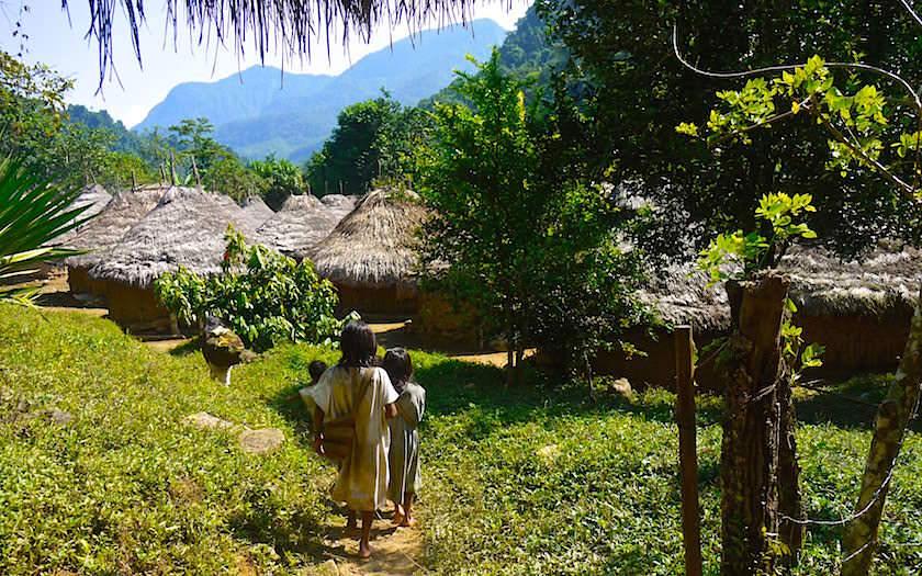 Ciidad Perdiada - ursprüngliches Leben wie vor hunderten von Jahren im Kogi Indianer Dorf - Dschungeltrekking in Kolumbien
