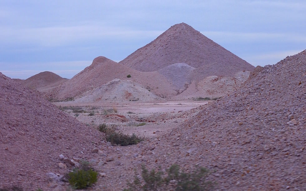 Coober Pedy Auswurf Opal Minen South Australia