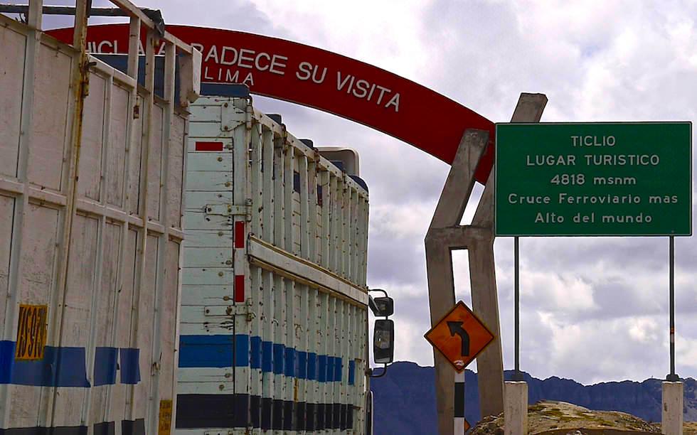 Passo Ticlio Peru Lima Huancayo