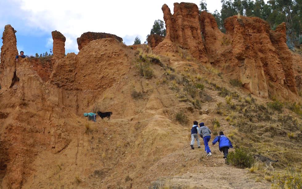 Huancayo - Torre Torre - Sandsteintürme - Wandern Peru