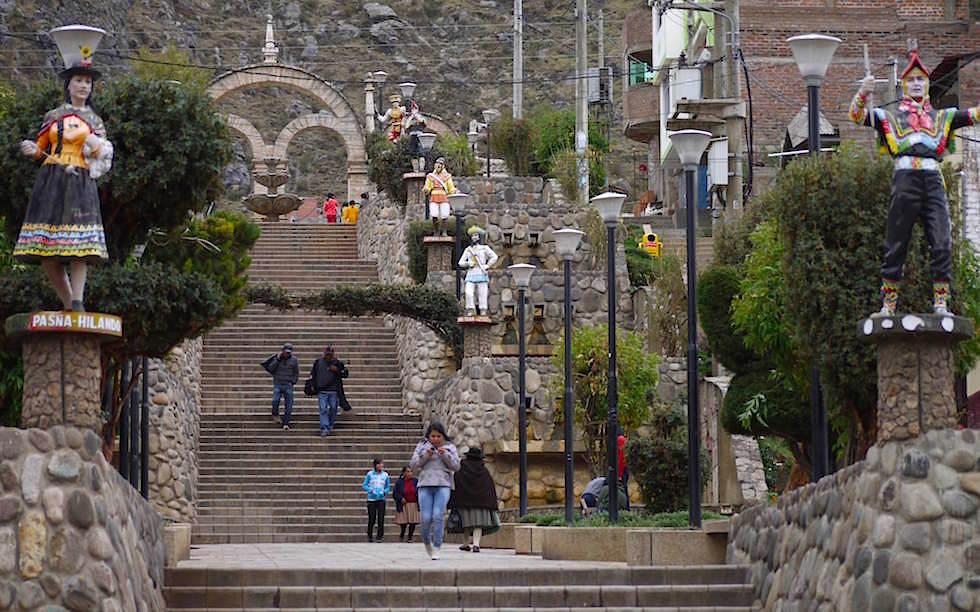 Straßen Huancavelia Peru
