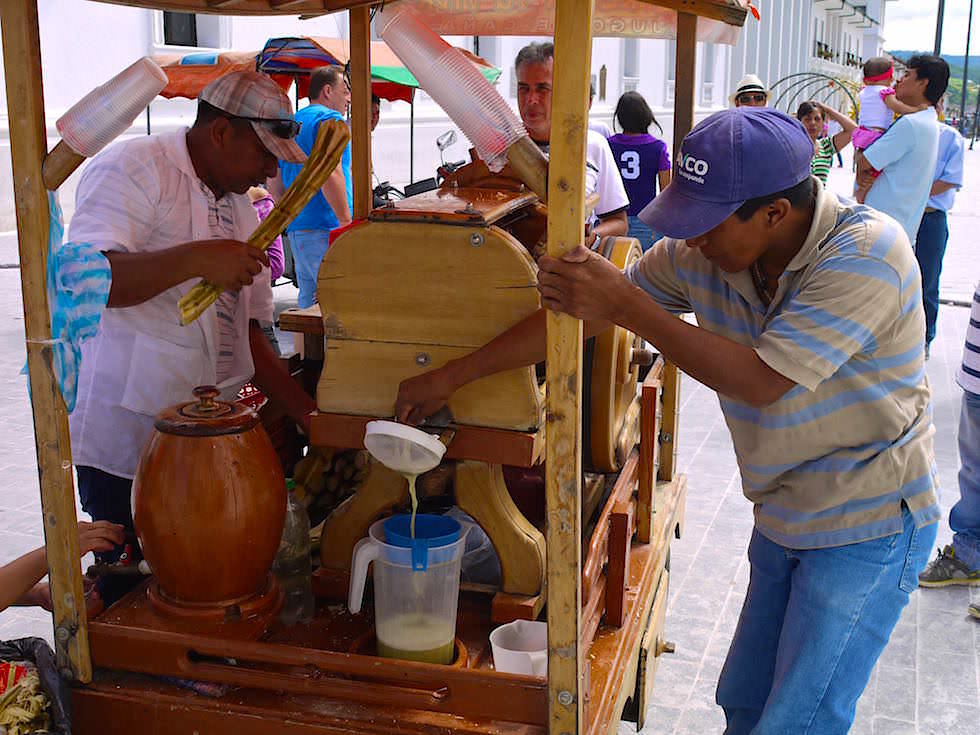 Zuckerrohrsaft Popayan - Kolumbien - Weisse Stadt