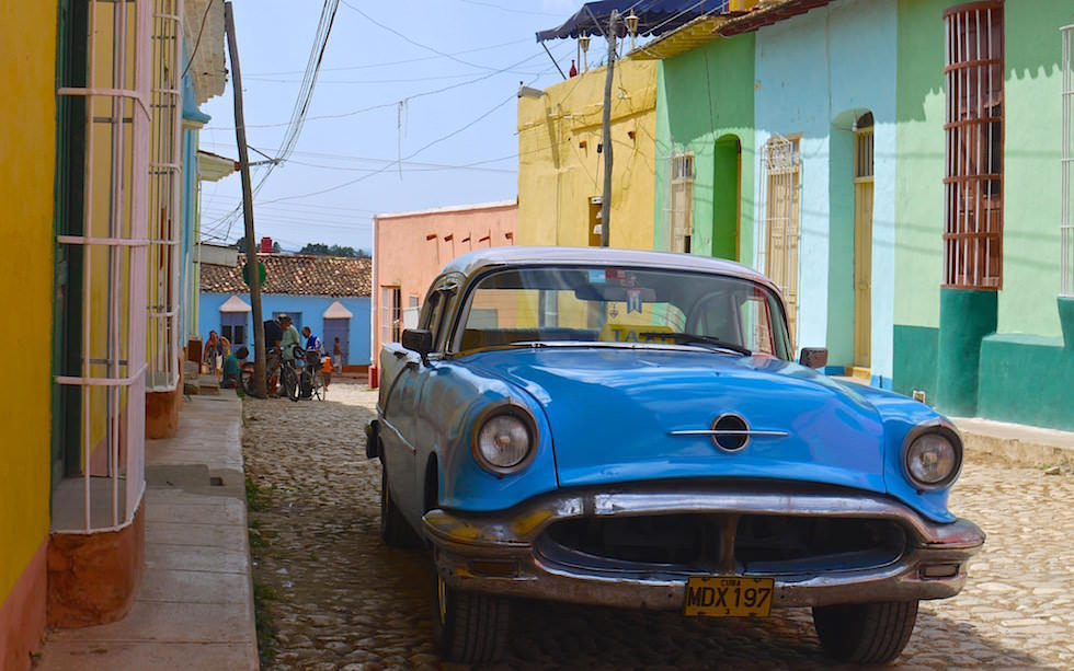 Straßen und Oldtimer in Trinidad Kuba