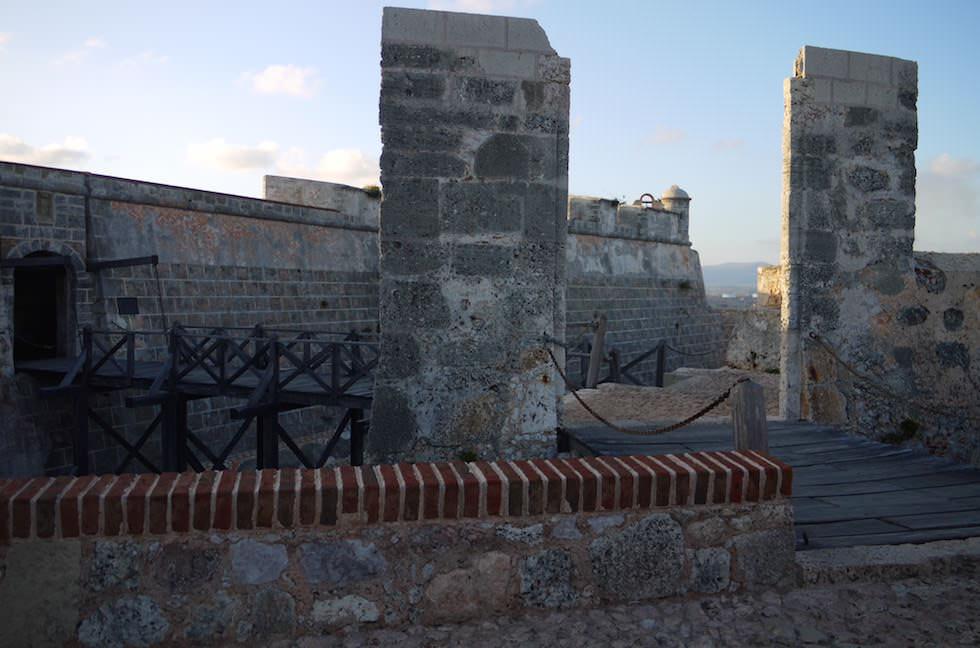 Zugbrücke El Morro - Castillo del Morro San Pedro de la Roca bei Santiago de Cuba Kuba