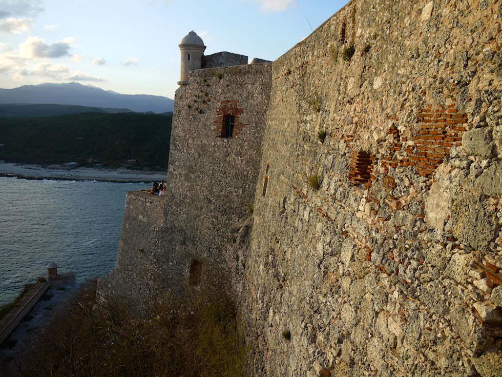 Festungswände Castillo del Morro San Pedro de la Roca bei Santiago de Cuba Kuba
