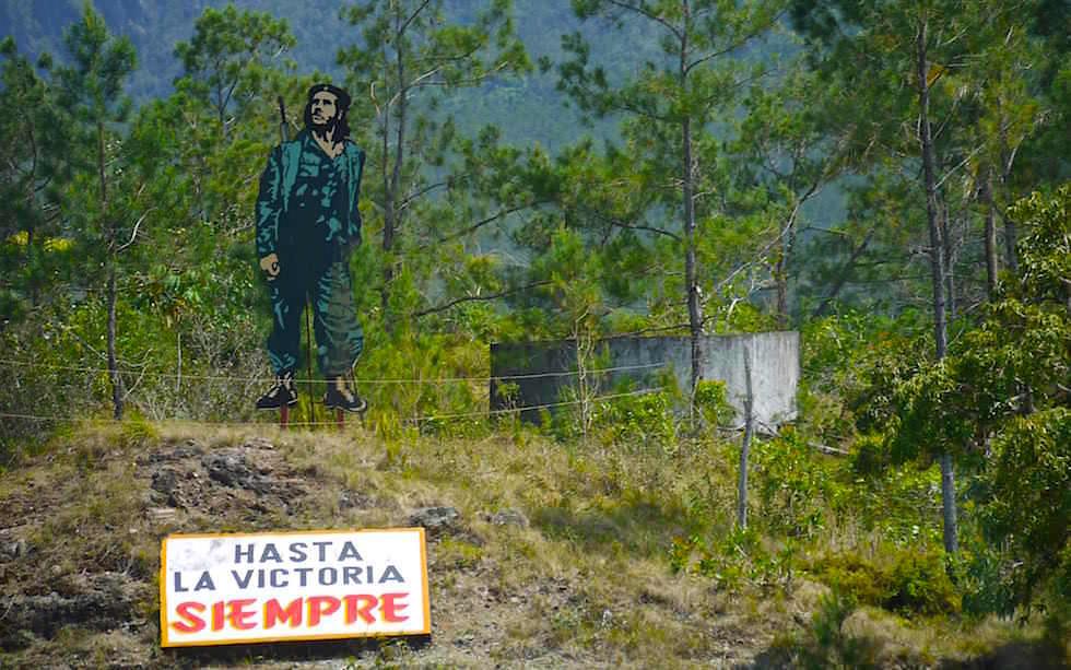 Propaganda Che nahe Santa Clara Kuba