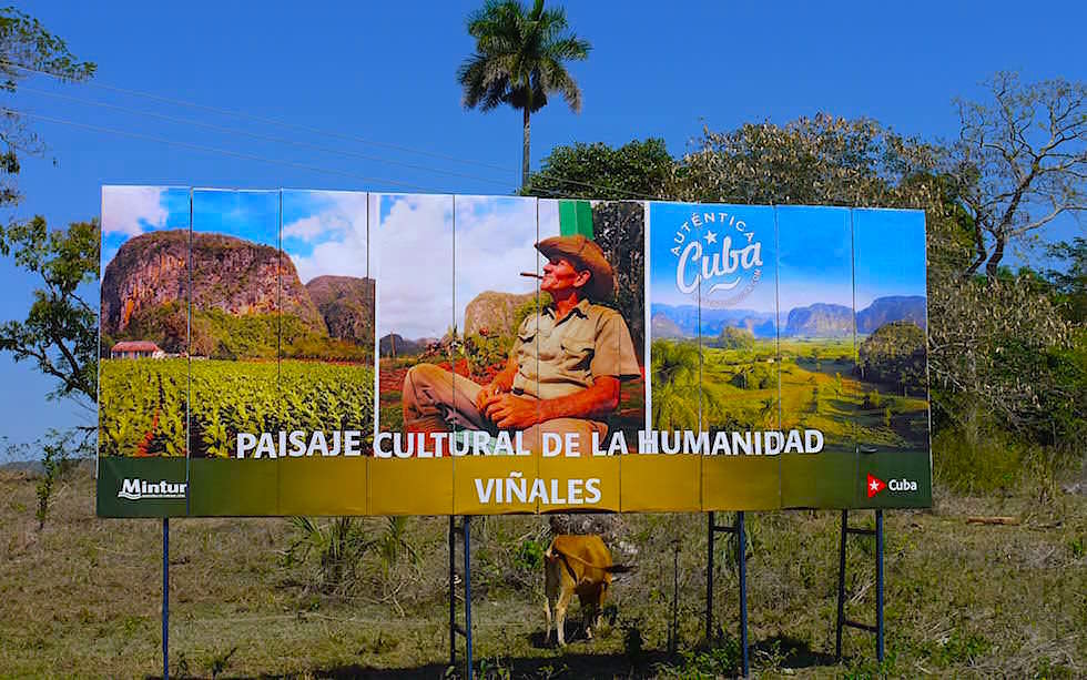 Plakat Werbung für Vinales Kuba