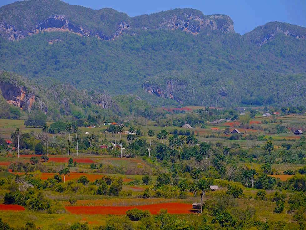 Ausblick auf Vinales Tal Kuba