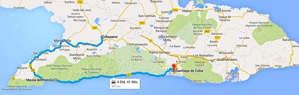 Von Bayamo nach Santiago de Cuba - Kuba