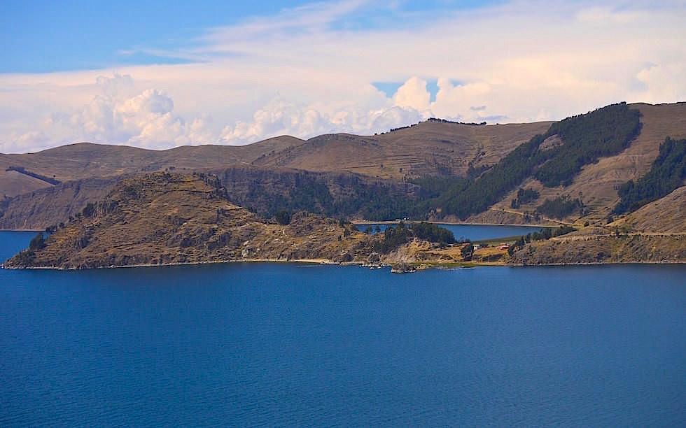 Copacabana - Cerro Calvario - Blick auf Titicaca See in Bolivien