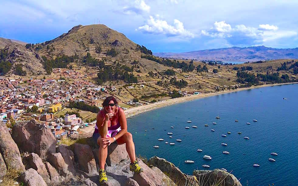 Cerro Calvario -Copacabana - Blick auf Titicaca See in Bolivien
