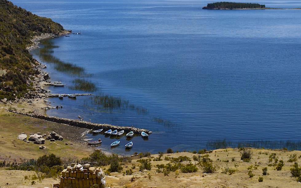 Isla del Sol im Titicaca See im Norden