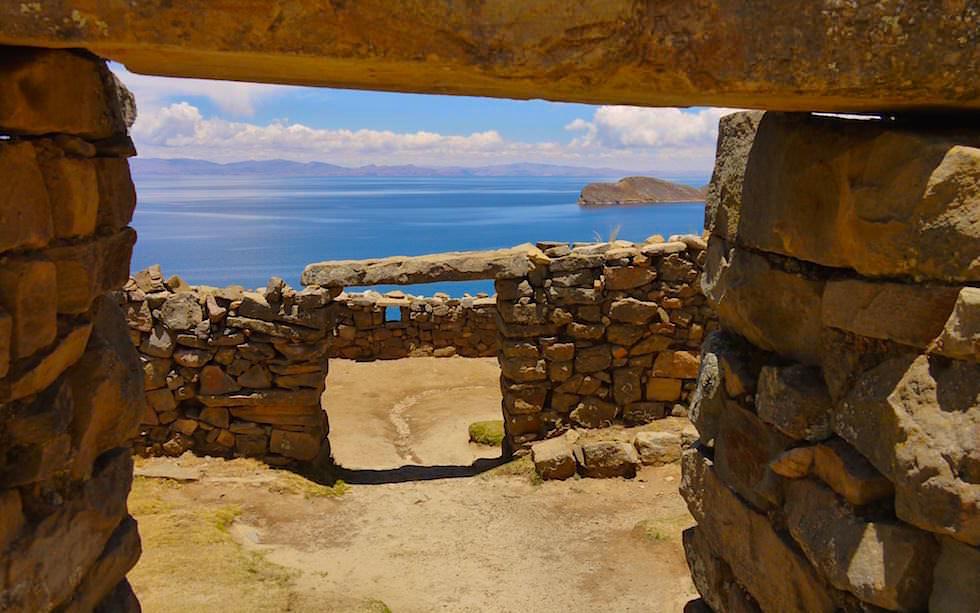 Isla del Sol im Titicaca See -Chincana-Ruinen