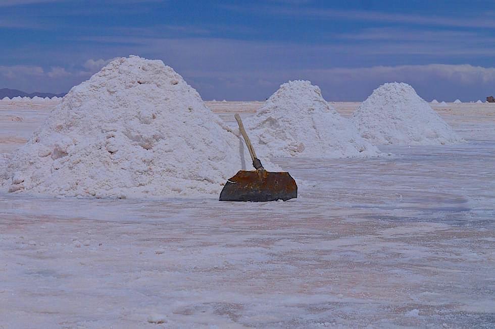 Salar de Uyuni Bolivien - Salzhaufen