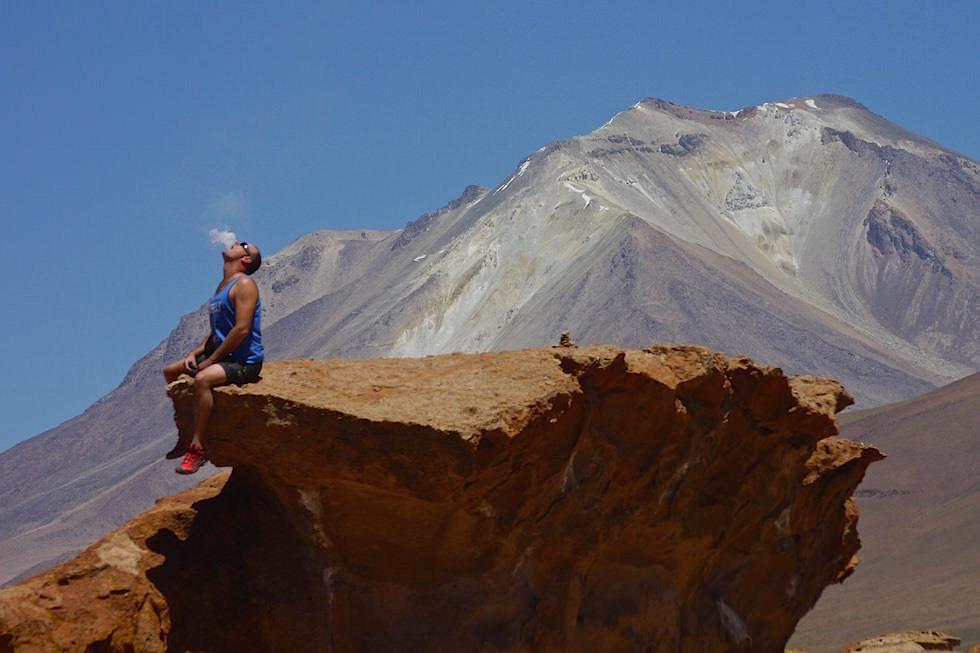 Vulkan Ollague - Volcán Ollagüe - Jeeptour Salar de Uyuni Bolivien