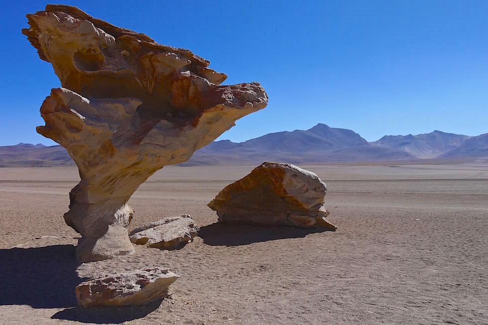 Árbol de Piedra - Steinerne Baun oder Steinerne Tisch in dem Altiplano Boliviens
