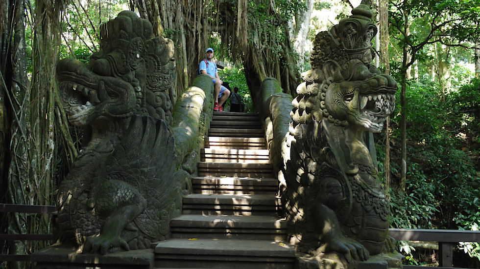 Dragon Stair - Monkey Forest in Ubud, Bali