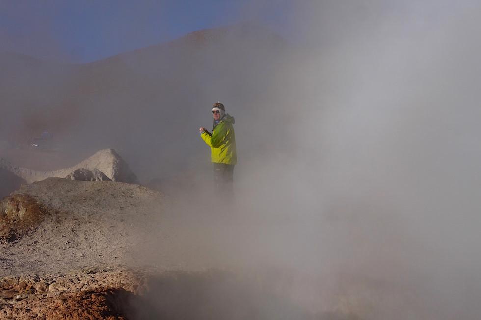 Sol de Manana Geysir - Morgensonne Geysir in Bolivien Altiplano - Salar de Uyuni Tour