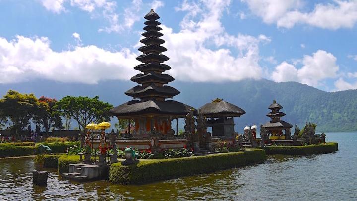 Pura Ulun Danu Bratan oder Pura Bratan Wassertempel in Zentral Bali