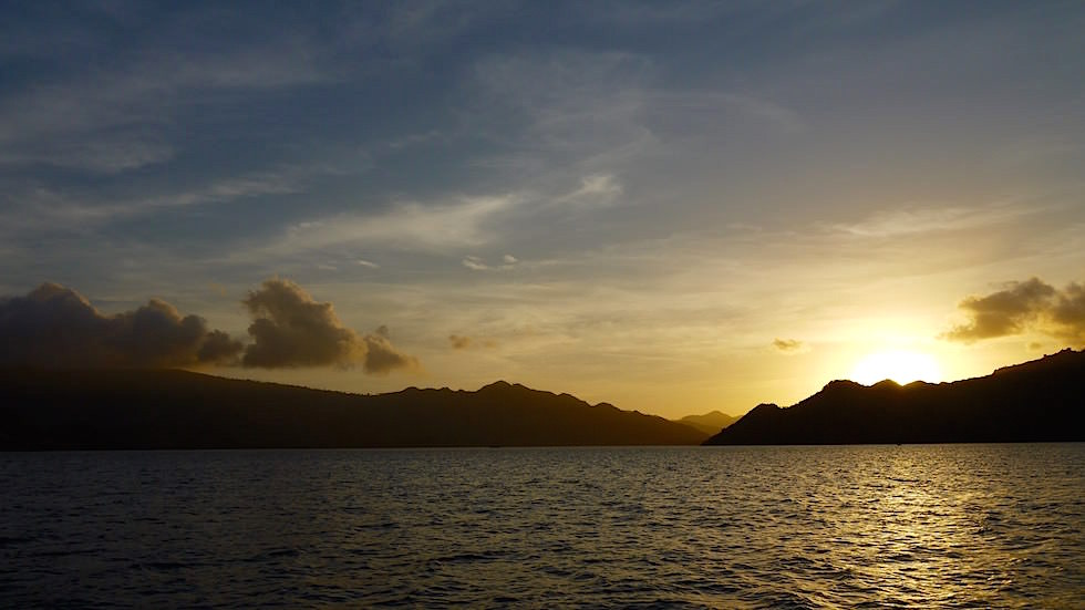 Sonnenuntergang Komodo Nationalpark Indonesien