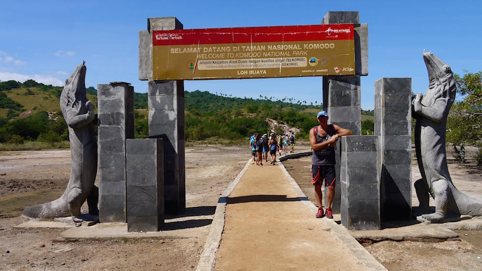Rinca Island im Komodo National Park Indonesia