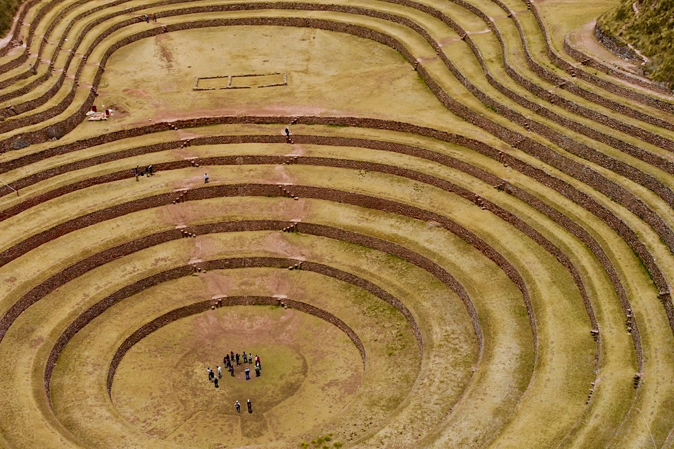 Faszinierendes Moray - Berühmte Inka Anlage mit vielen Terrassen - Valle de Sagrado - Peru