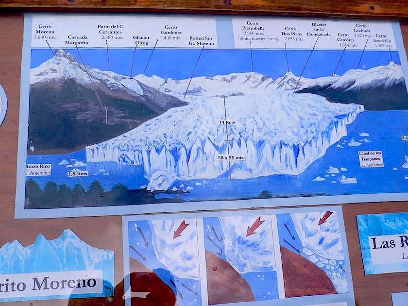 Karte Perito Moreno Gletscher - Patagonien , Argentinien