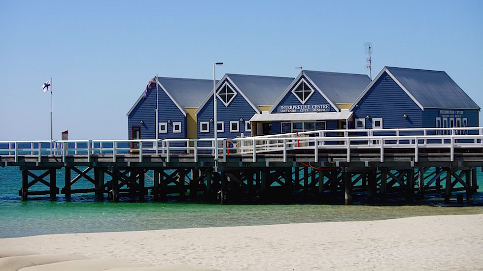 Historic Busselton Jetty in Western Australia