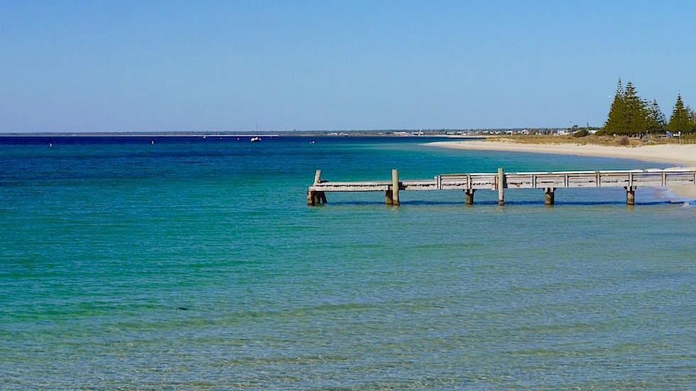 Blick von Busselton Jetty in Western Australia