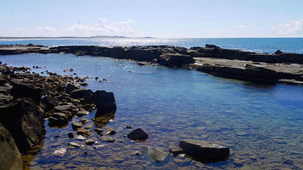 Rock Pool in Angourie - Yamba -Clarence Coast - New South Wales Australien