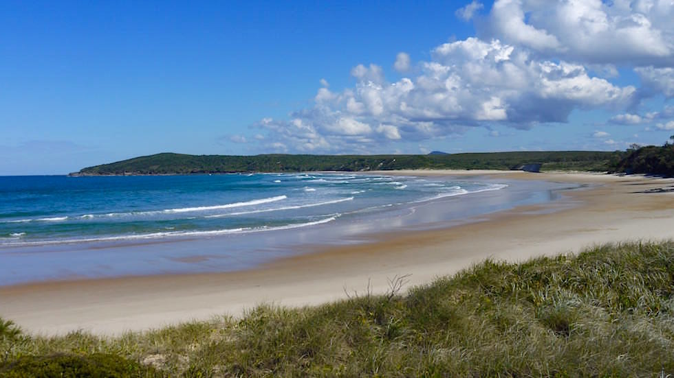 Pippi Beach - Surf Beach in Yamba -Clarence River - New South Wales Australien