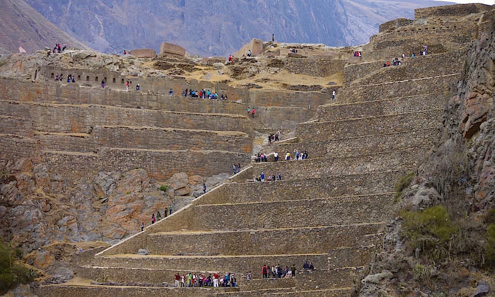 Ausblick auf Ollantaytambo Festung & Terrassen - Valle Sagrado Highlights - Besichtigung des heiliges Tal bei Cusco - Peru