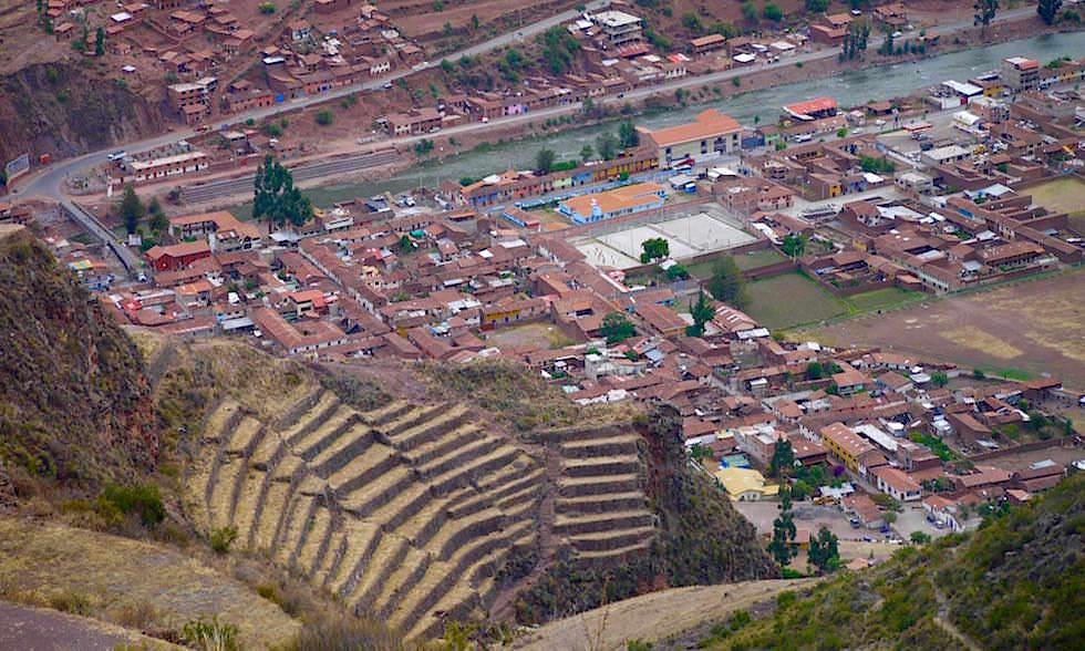 Blick auf Pisac und ins Valle Sagrado - Ausflug zu Inkastätten & den Highlights im heiligen Tal bei Cusco - Peru