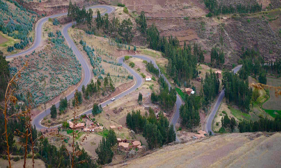 Valle Sagrado Highlights - Ausblick von den Terrassen von Pisaq - Heiliges Tal & eindrucksvolle Inka Ruinen bei Cusco - Peru